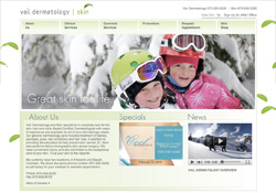 Vail Dermatology Vail, CO Website Design